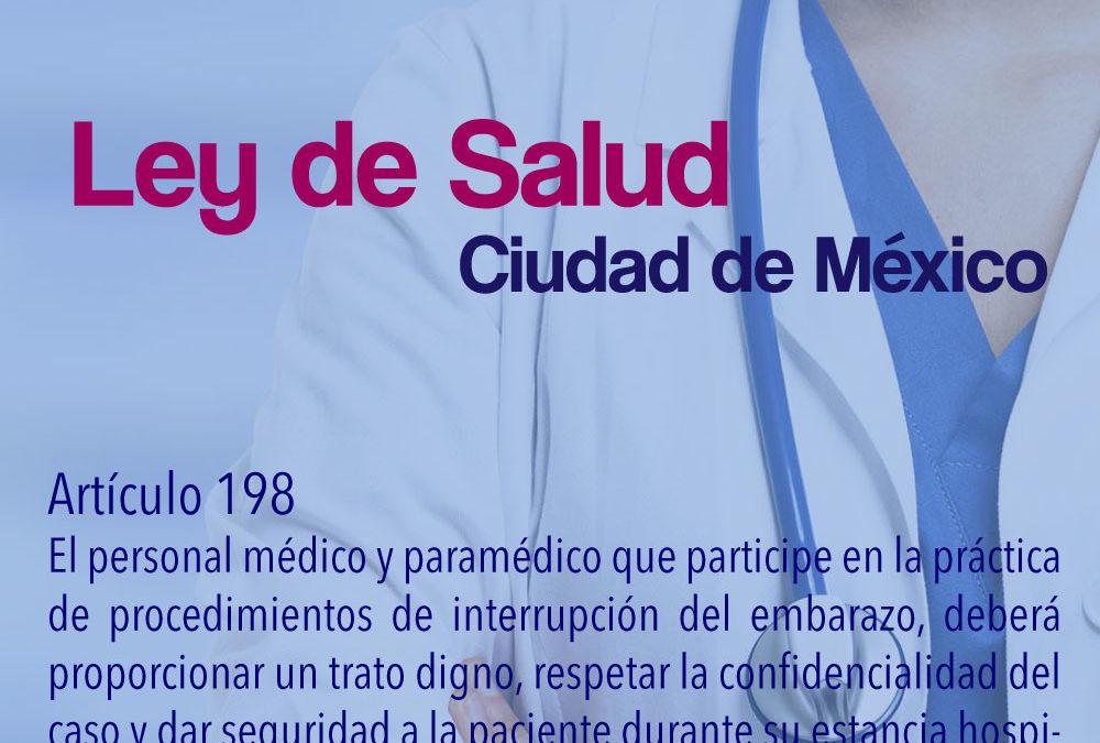 Ley de Salud de la CDMX articulo 198