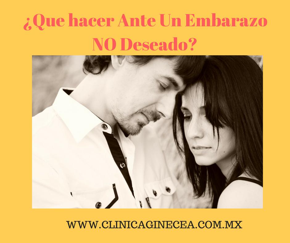 Opciones legales en Mexico ante Un Embarazo NO Deseado