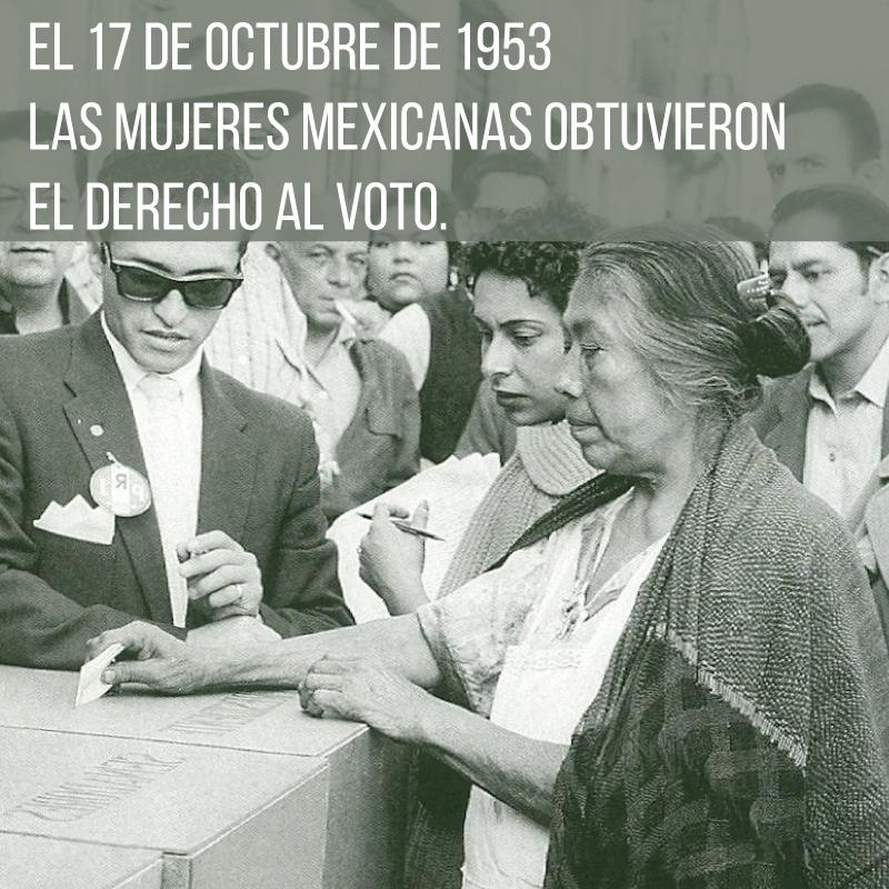 Festejamos 65 años del Derecho al voto para la Mujer en México