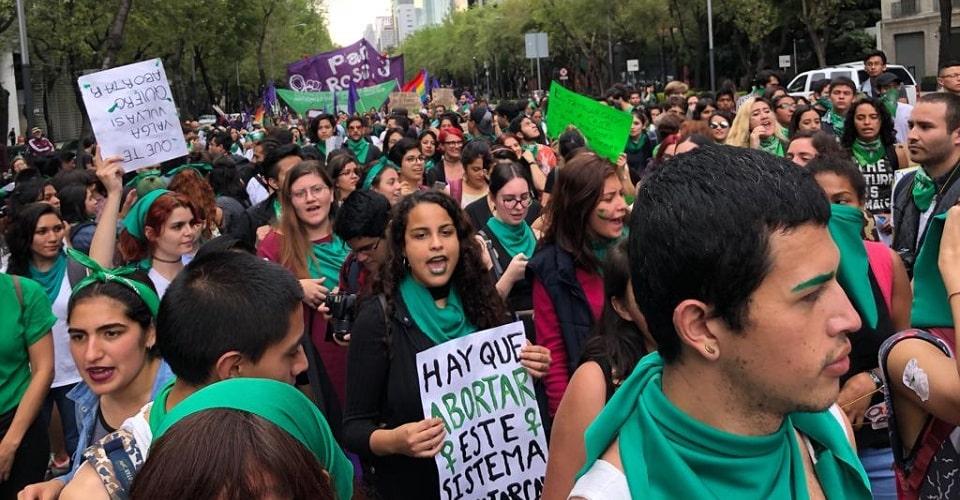 Gran Marcha de Mujeres a favor del Aborto en CDMX