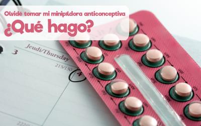Olvidé tomar mi minipíldora anticonceptiva ¿Qué hago?