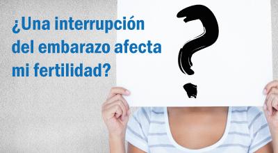 ¿Una interrupción del embarazo afecta mi fertilidad?