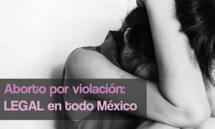 Aborto por violación: legal en todo México