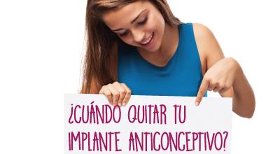 Implante anticonceptivo ¿Cuándo debo retirarlo?