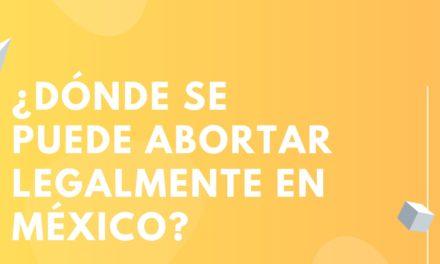 ¿Dónde se puede abortar legalmente en México?