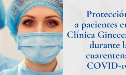 Medidas de higiene y desinfección en Clínica Ginecea durante la cuarentena COVID-19