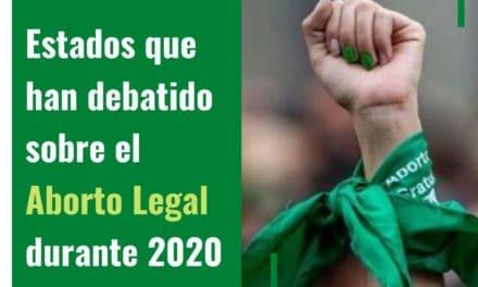 Legalización del aborto llega al congreso de los Estados en Mexico
